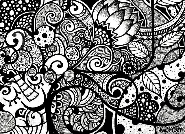 Zen Line Art : Christopher doodles doodling zentangle neopoprealism